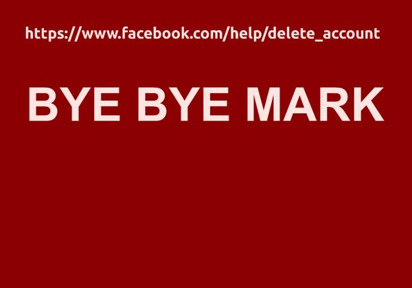 Bye bye, Mark